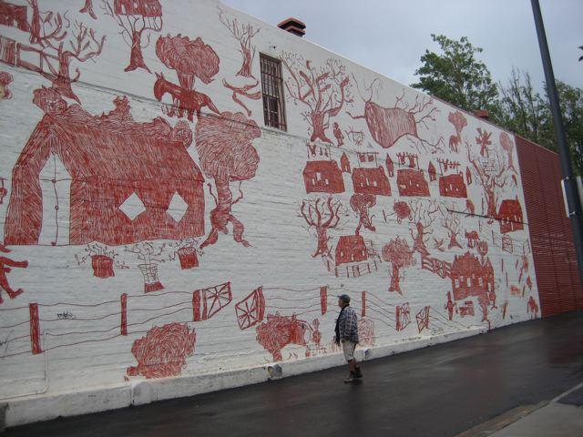 Redfern mural  Mission Boy Dreams artist Roy Kennedy