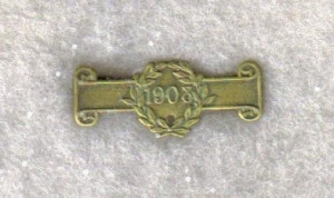 WILLIAM STUBBINGS 1908 Badge