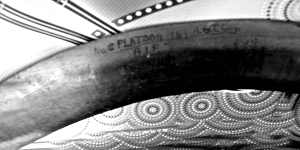 Albert Edmund Leane's Boomerang close up (2) 3 bw contrast version