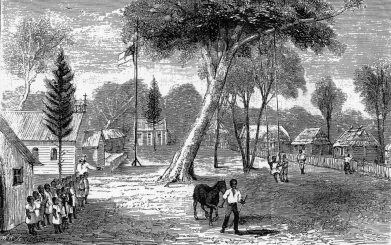 Warangesda etching 1883 Illustrated Sydney News